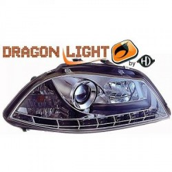Paire de phares design Dragon Light, Chrome, SEAT Cordoba