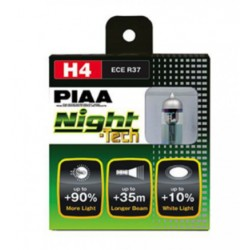 Lot de 2 ampoules PIAA NIGHT Tech - H4  12v  60/55w 125/115w