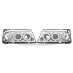 Paire de phares Angel Eyes Chrome pour Peugeot 205 - Phase I & II