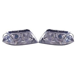 Paire de phares Angel Eyes Chrome pour Volkswagen Passat de 2000 à  2001