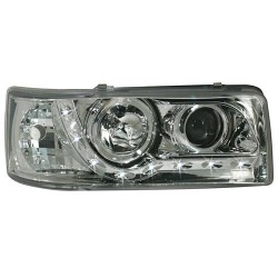 Paire de phares devil eyes Chrome Pour Volkswagen VW T4 1990-2003 (avant court)